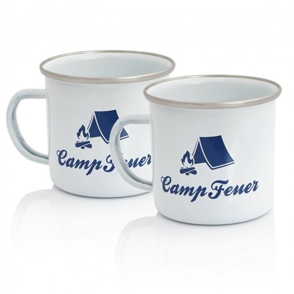 Campfeuer 2x Emaillierte Tasse - 350 ml