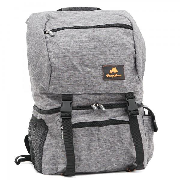 CampFeuer 20 Liter Rucksack mit Kühlfach | grau leicht und wasserdicht