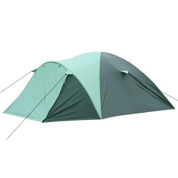 CampFeuer Campingzelt, grün - mint, 4 Personen Kuppelzelt, 5000 mm
