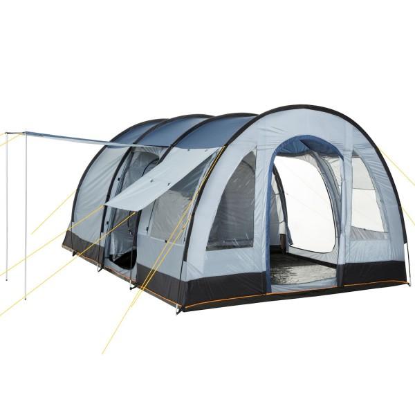 CampFeuer Campingzelt, blau-grau, 4 Personen Tunnelzelt, 5000 mm