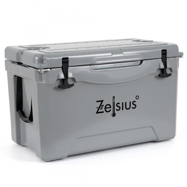 Zelsius Kühlbox grau 50 Liter | Cooling Box ideal für Auto Camping