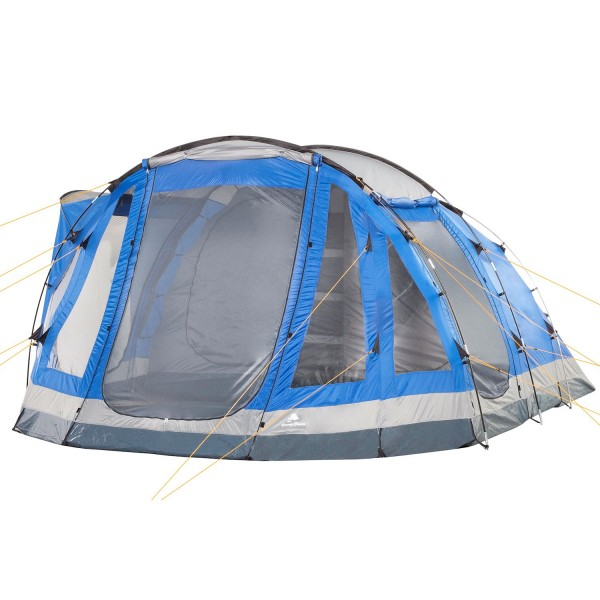 CampFeuer Campingzelt, blau/grau, 5 Personen Tunnelzelt, 3000 mm
