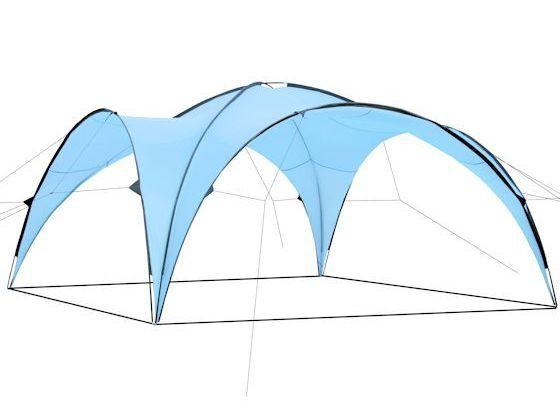 CampFeuer - Event Pavillon, Event Shelter, 4,5 x 4,5 m, hellbau
