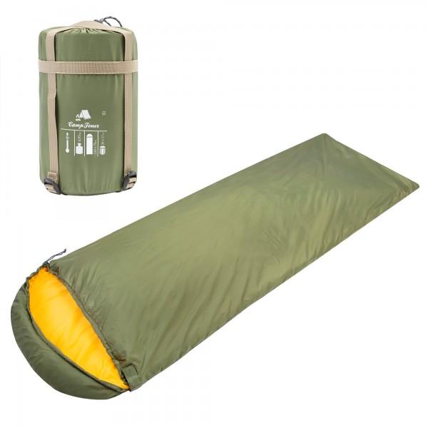 CampFeuer Deckenschlafsack | 220 x 75 cm | oliv/orange | Schlafsack
