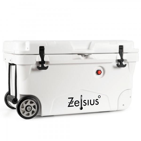 Zelsius Kühlbox weiß 50 Liter mit Räder | Cooling Box für Auto Camping