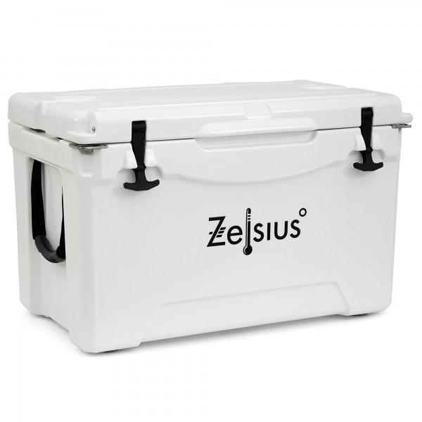 Zelsius Kühlbox weiß 50 Liter | Cooling Box ideal für Auto Camping