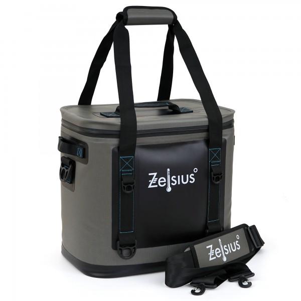 Zelsius Soft Kühltasche grau 20 Liter | leicht und wasserdicht