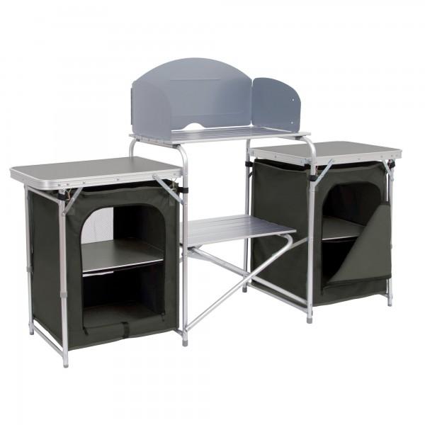 CAMPFEUER Aluminium Campingschrank, Campingküche mit viel Stauraum