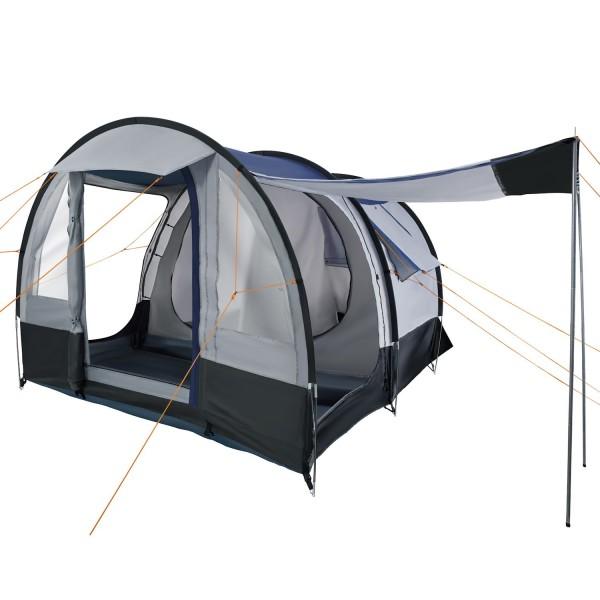 """CampFeuer Campingzelt """"Smart"""" für 4 Personen grau/schwarz Familienzelt"""