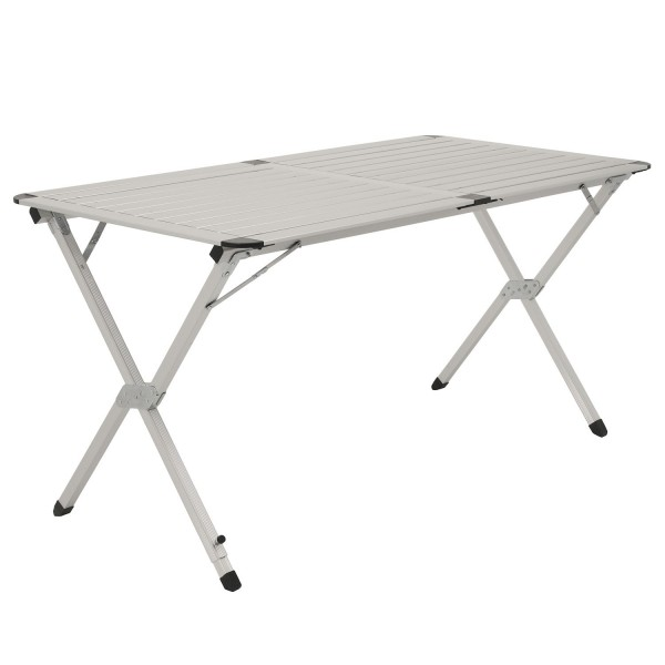 CampFeuer Campingtisch, 140 x 70 cm, Alu Falttisch, Rolltisch klappbar
