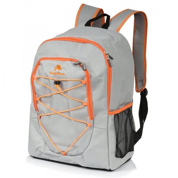 CampFeuer Kühlrucksack 30L, grau, Isoliertasche für BBQ, Camping