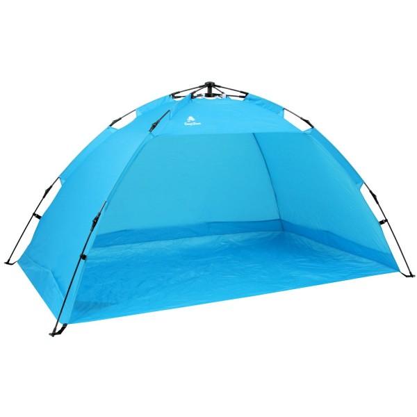 CampFeuer - Automatik Strandmuschel, beach tent, hellblau