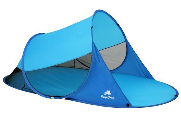 CampFeuer - PopUp Strandmuschel, 2 Pers., hellblau-blau, UV50+