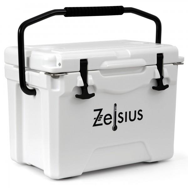Zelsius Kühlbox weiß 25 Liter | Cooling Box ideal für Auto Camping