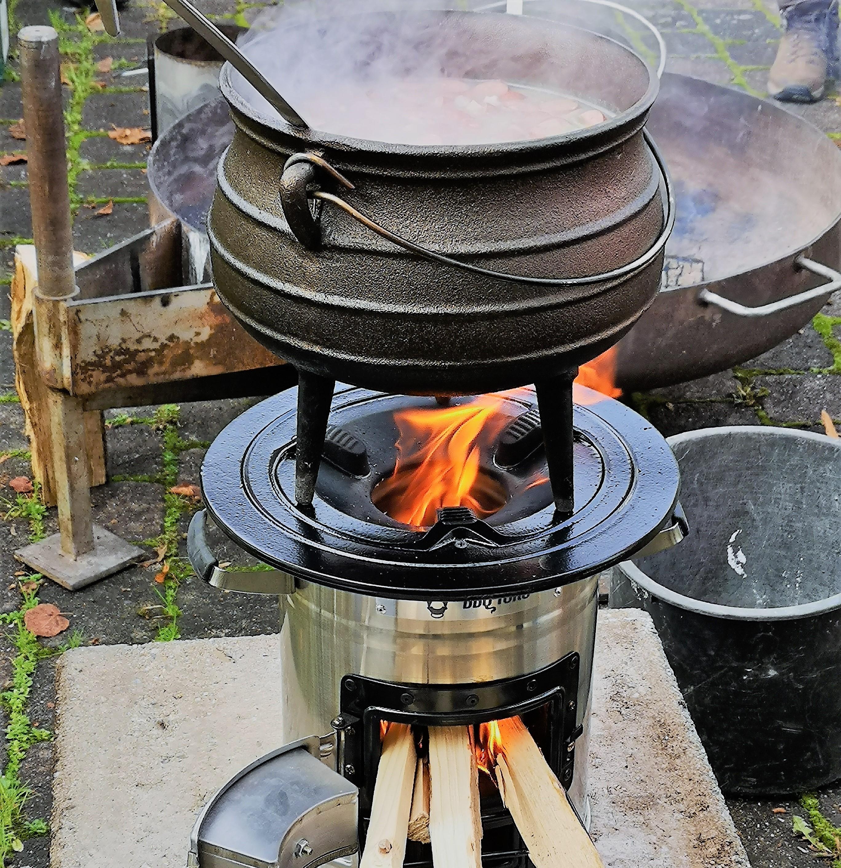 Raketenofen - Camping Kocher und Outdoorcooking Feuerstelle ...